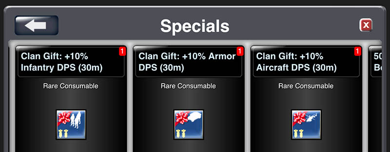 clan gift items